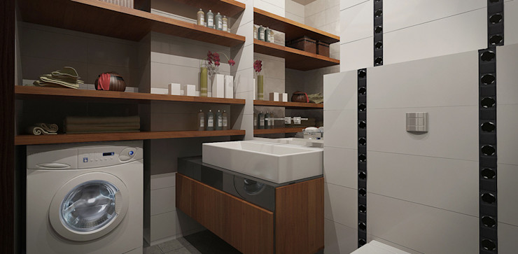Александра Петропавловская Minimalist style bathroom