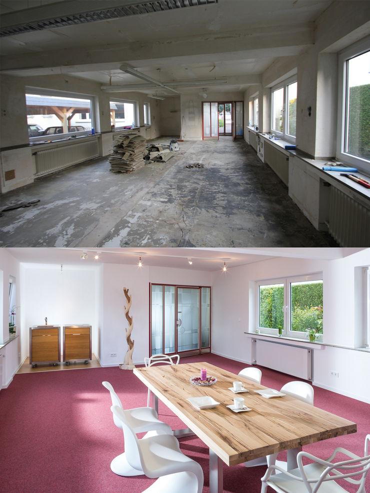 Wohnwert Showroom vorher/ nachher Wohnwert Innenarchitektur