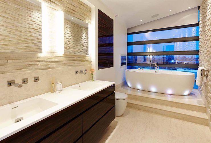 Penthouse Interior Design, River Thames, London Residence Interior Design Ltd Ванна кімната