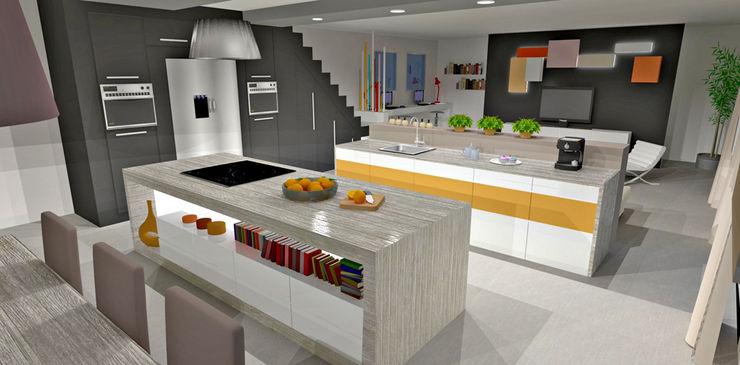 Cuisine à double ilot HanaK Décoration Cuisine moderne