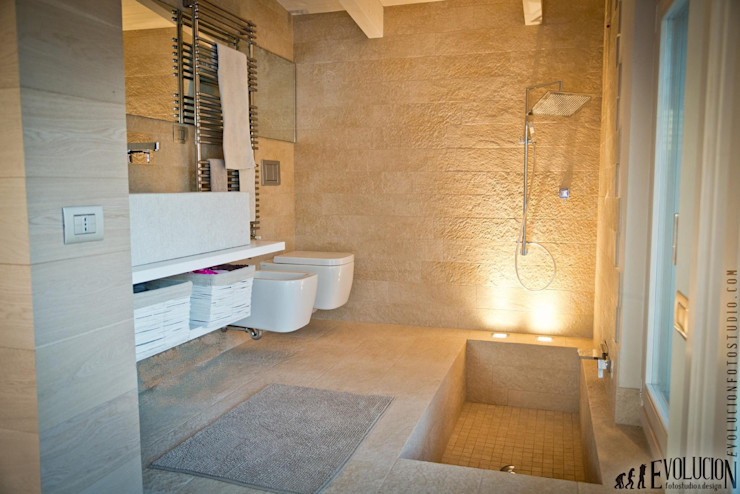 studio aica progetti Casas de banho modernas