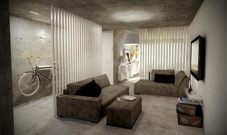 Santiago | Interior Design Studio 인더스트리얼 거실
