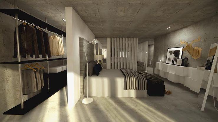 Open Space Santiago   Interior Design Studio Quartos industriais