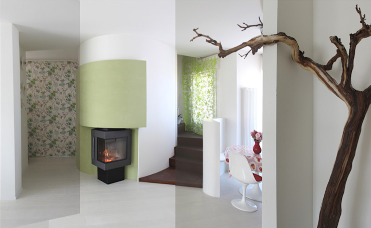 caminetto homify Case in stile scandinavo