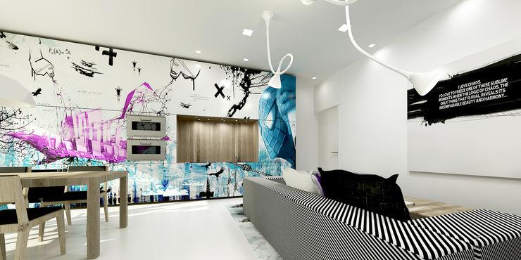 XX HOUSE MDMA Soggiorno minimalista