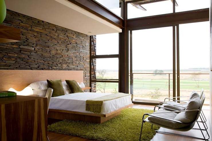 House Serengeti Nico Van Der Meulen Architects Modern style bedroom