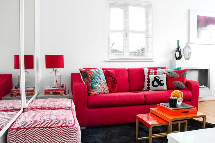 South London Apartment Bhavin Taylor Design غرفة المعيشة
