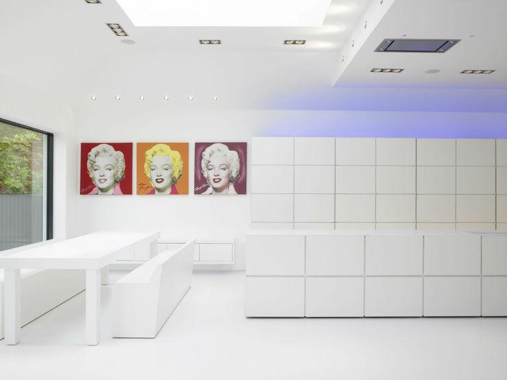 Ice White House-Luxury home Quirke McNamara Minimalist kitchen
