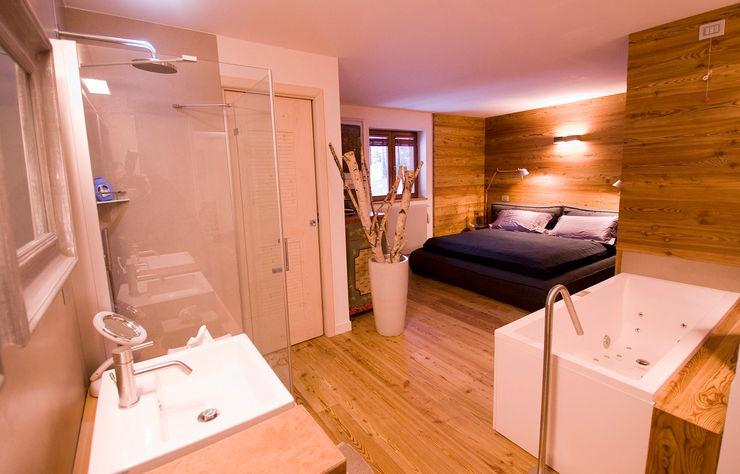 Appartamento B+T Architetto Beltrame Claudio Camera da letto in stile scandinavo