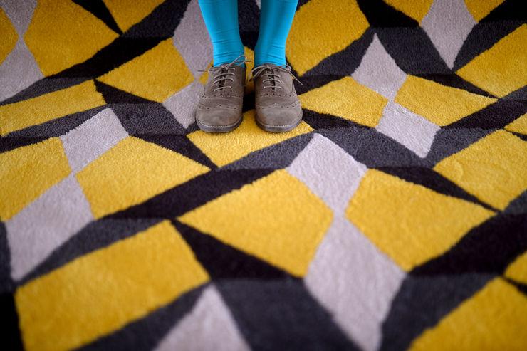Tiles rug homify Walls & flooringCarpets & rugs Wool Multicolored