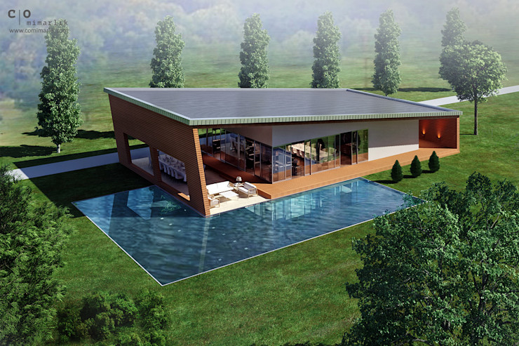 CO Mimarlık Dekorasyon İnşaat ve Dış Tic. Ltd. Şti. Casas estilo moderno: ideas, arquitectura e imágenes
