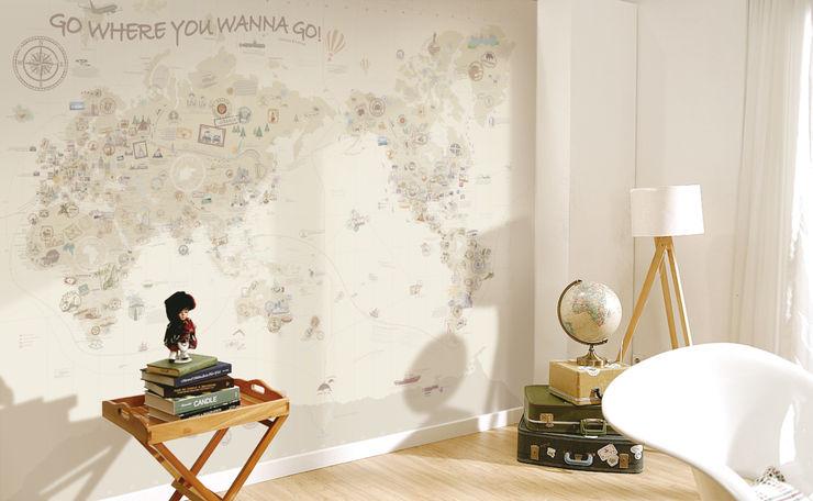 엄마사랑세계지도_W3020_청소년Beige U2 벽 & 바닥벽지