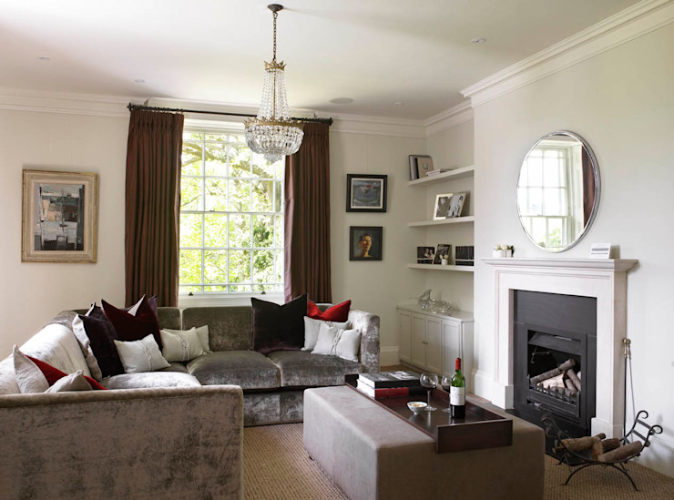 Living Room, The Wilderness, Wiltshire, Concept Interior Concept Interior Design & Decoration Ltd Eclectic style living room