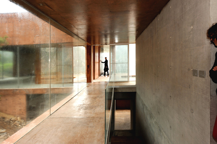 Narigua House P+0 Arquitectura Couloir, entrée, escaliers modernes