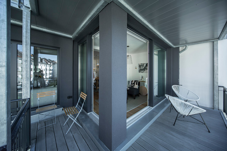 edit home staging Eclectic style balcony, porch & terrace