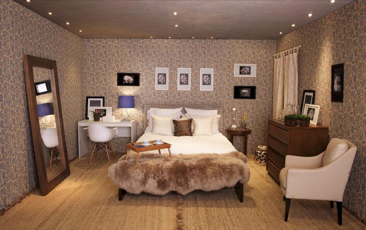 Mia Arquitetura BedroomBedside tables