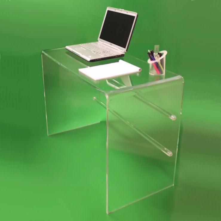 Tunstall Clear Acrylic Dressing Table / Desk Plastic Online Ltd. Study/officeDesks
