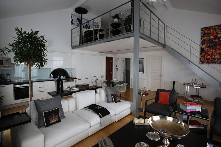 Flat Design Esra Kazmirci Mimarlik Modern Oturma Odası