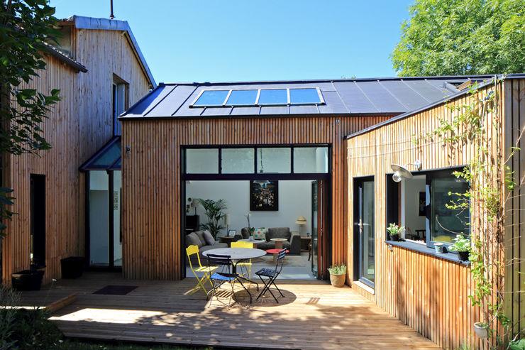 Extension bois à Sèvres T design architecture