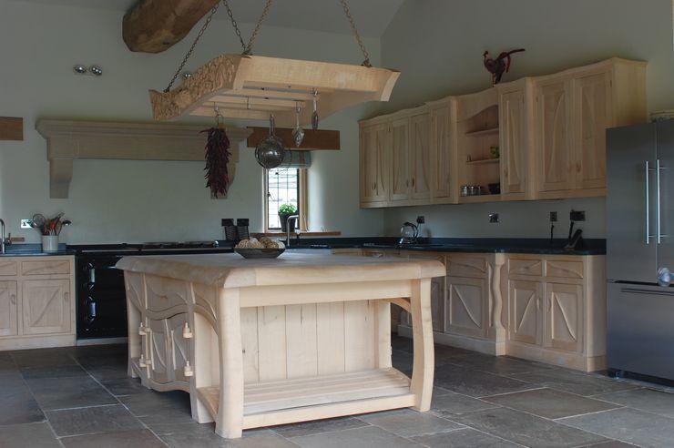 Manor house sculptural kitchen Carved Wood Design Bespoke Kitchens. KitchenCabinets & shelves