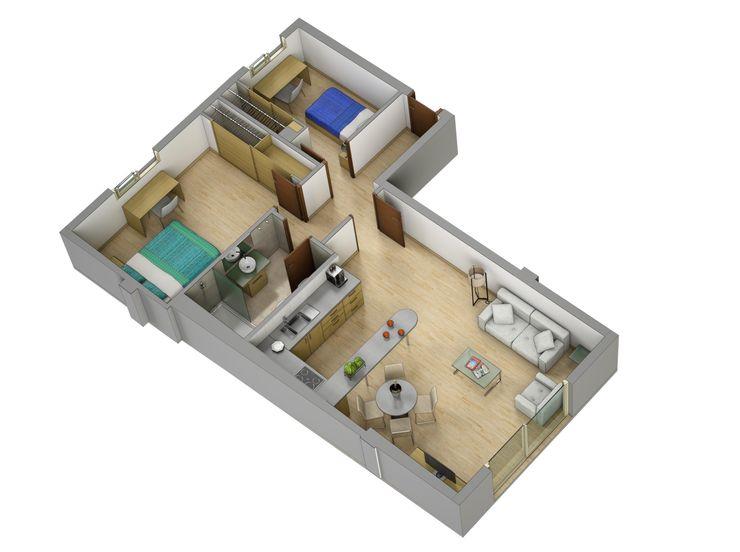 Plano de corte 3D Realistic-design Casas