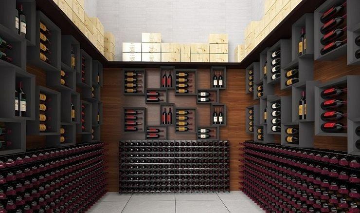 Range-bouteilles mural Esigo 5 Esigo SRL Cave à vin moderne Bois