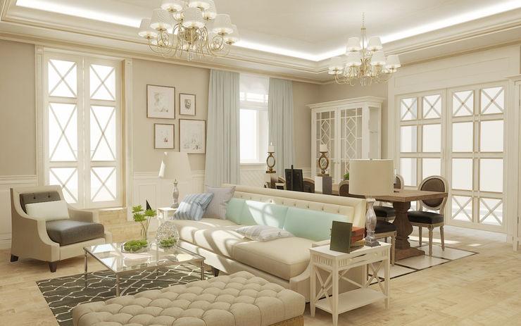 Гостиная studio forma Гостиная в классическом стиле
