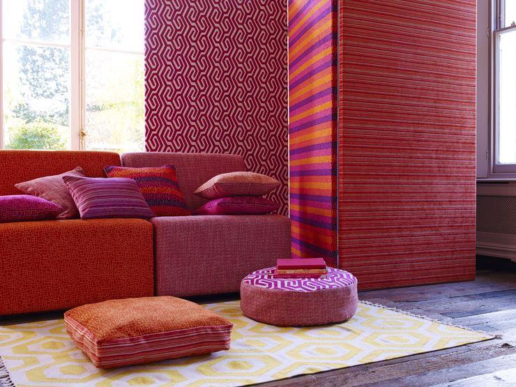 Roco cam Prestigious Textiles Mediterranean style living room