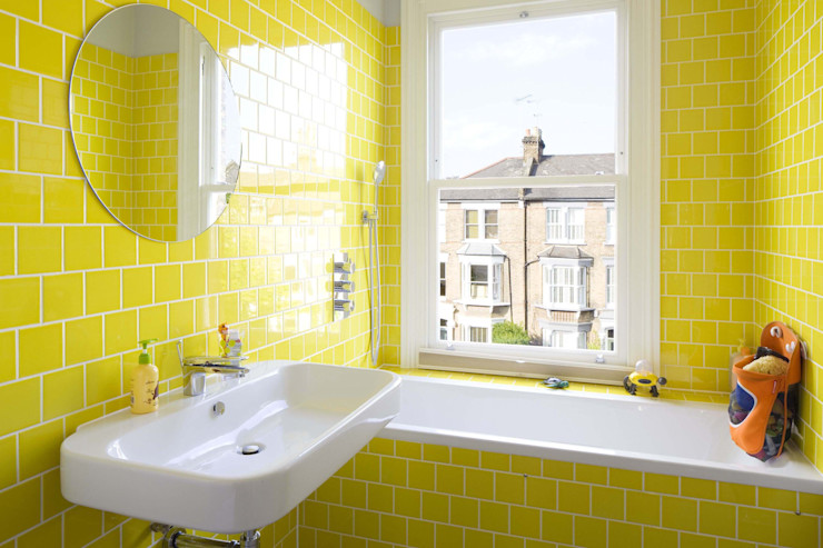 Huddleston Road Sam Tisdall Architects LLP Nowoczesna łazienka