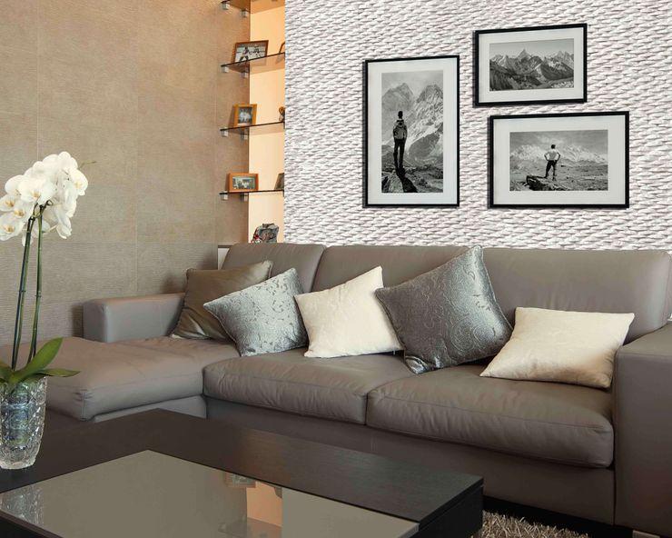 Piedra Ross River 9016 homify Paredes y pisos modernos Aglomerado Blanco