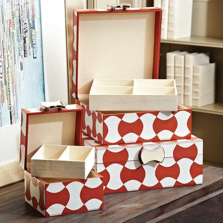 Axt Schmuck-Box-Brick / Weiß - by Global Views Sweets & Spices Dekoration und Möbel WohnzimmerAccessoires und Dekoration