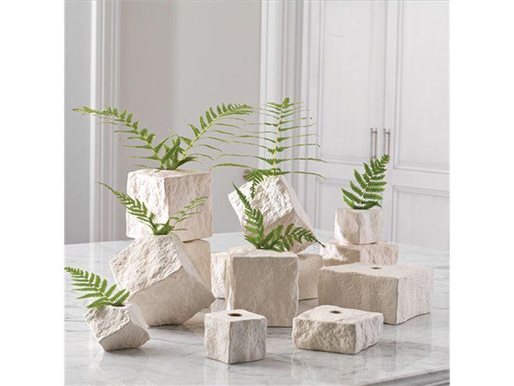 Stein -Block-Vase Gekippte Klein by Global Views Sweets & Spices Dekoration und Möbel HaushaltPflanzen und Zubehör
