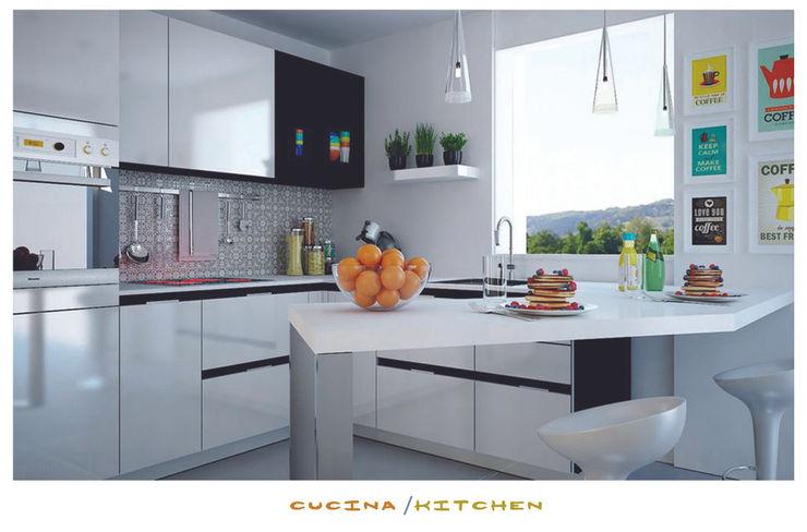 the kitchen ZENZEROdesign Cucina minimalista