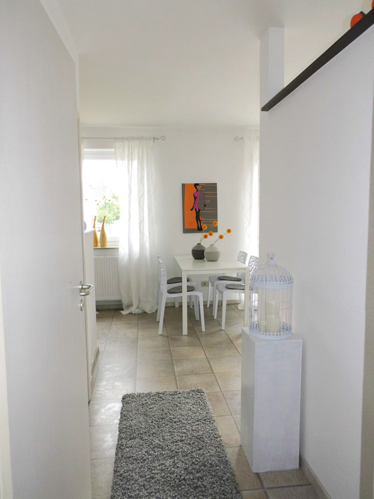 Eingangsbereich mit Blick ins Esszimmer - nachher raum² - wir machen wohnen
