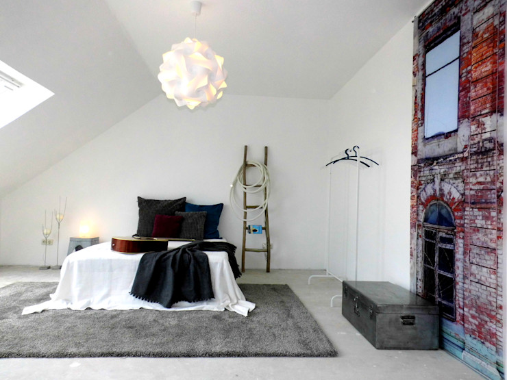 raum² - wir machen wohnen Industriële slaapkamers