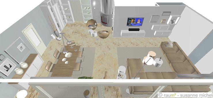 Planung Wohn-Esszimmer mit Kaminecke raum² - wir machen wohnen
