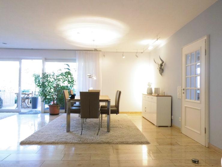Wohnberatung - Wohn-Esszimmer mit Kaminecke in Münster raum² - wir machen wohnen Moderne Esszimmer
