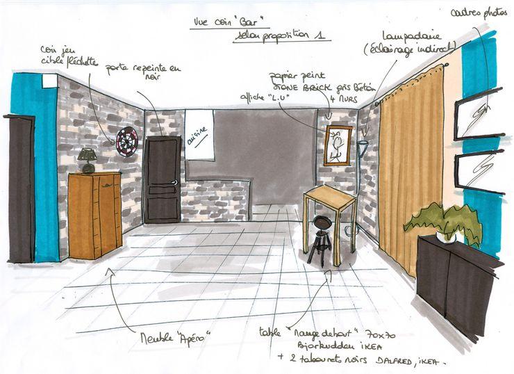 projet espace bar Atelier Inside Salon