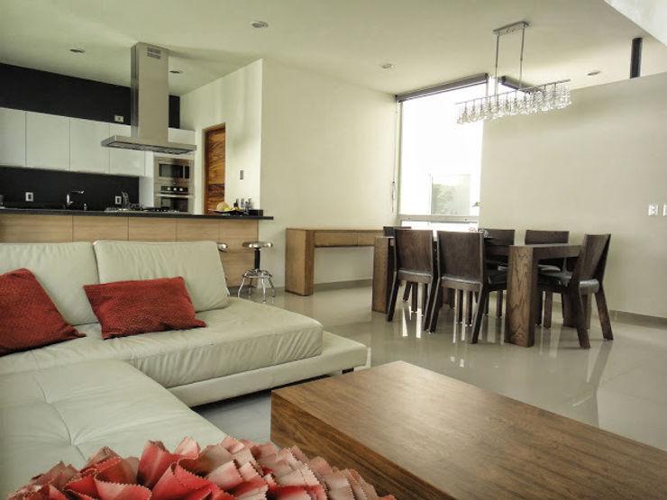 Abraham Cota Paredes Arquitecto Ruang Keluarga Modern