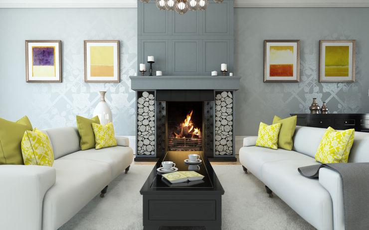 Rose Room Interior Design Caxton Rhode Вітальня