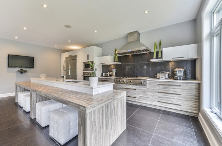 Grange México Built-in kitchens Wood White
