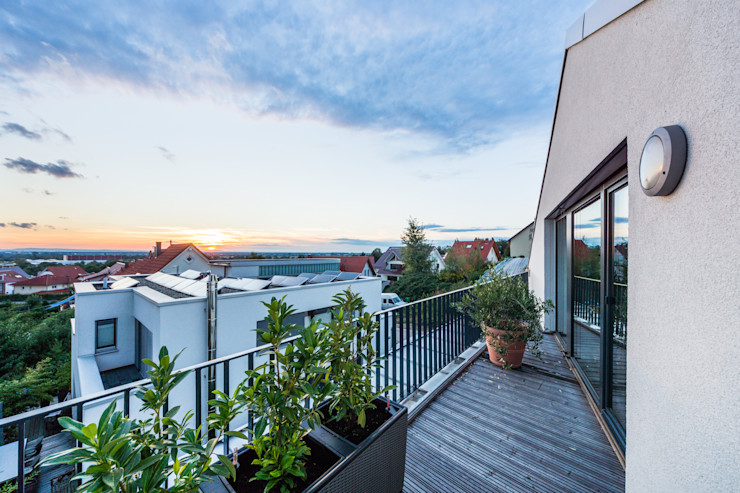 Fan House- Maison à Weinheim Helwig Haus und Raum Planungs GmbH Jardin moderne