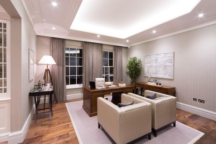 Flairlight Project 1 Oxshott, Tudor House Flairlight Designs Ltd 書房/辦公室