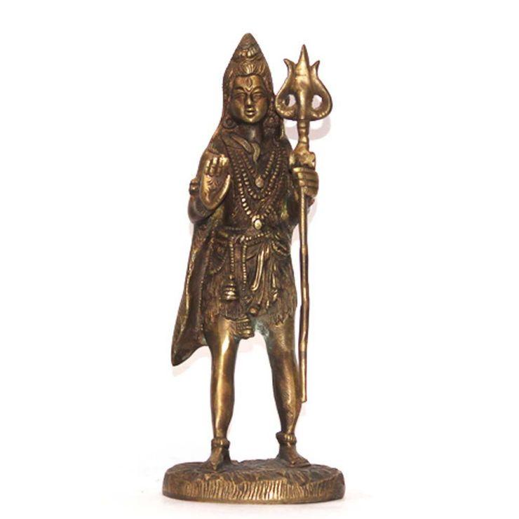 Lord Shiva Brass Statue –Indian Hindu God M4design ArtworkSculptures
