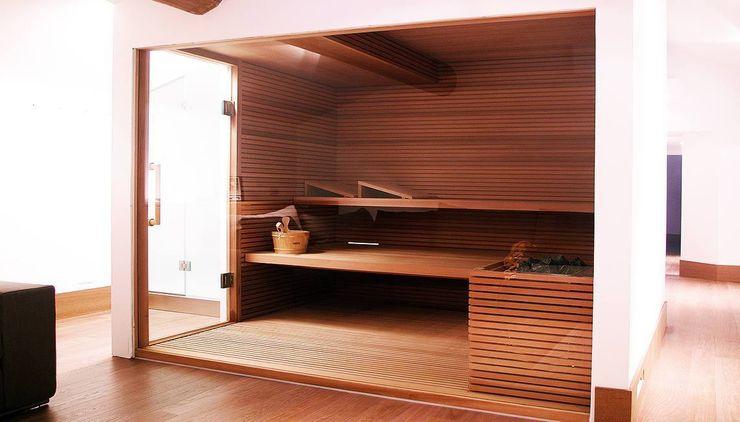 homify Saunas Acabamento em madeira