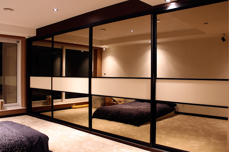 Mirrored Sliding Door Wardrobes in Leicester The Leicester Kitchen Co. Ltd BedroomWardrobes & closets