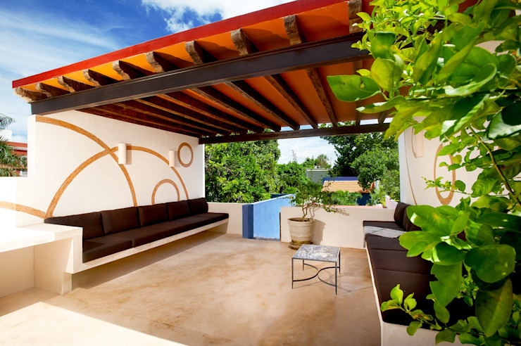 Taller Estilo Arquitectura Hiên, sân thượng phong cách Địa Trung Hải