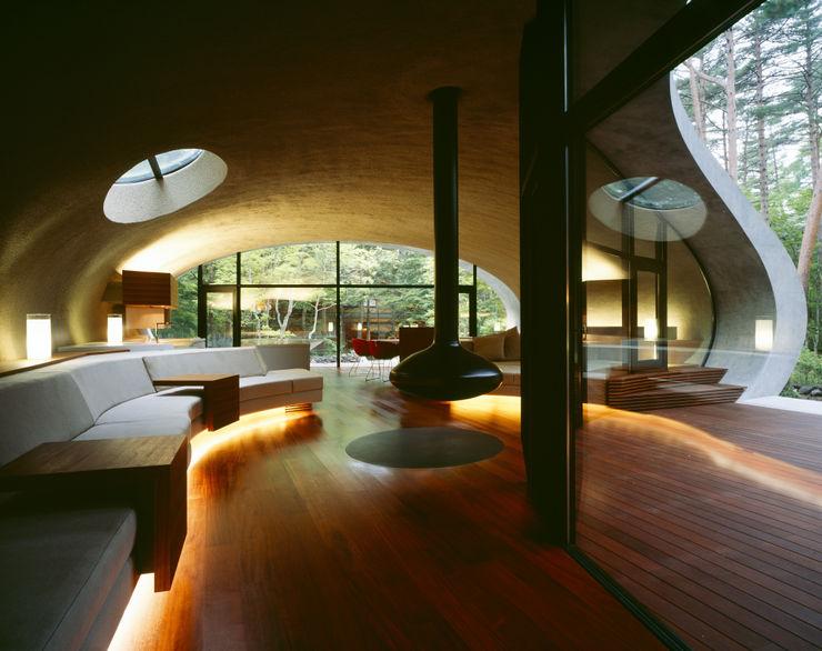SHELL ARTechnic architects / アールテクニック Modern living room