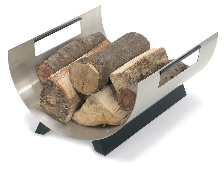 Holzablage rund Chimo Blomus WohnzimmerKamin und Zubehör