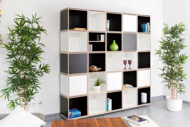 STUCKit! Müller + Peters Tischlerei + Objektdesign GmbH Study/officeCupboards & shelving